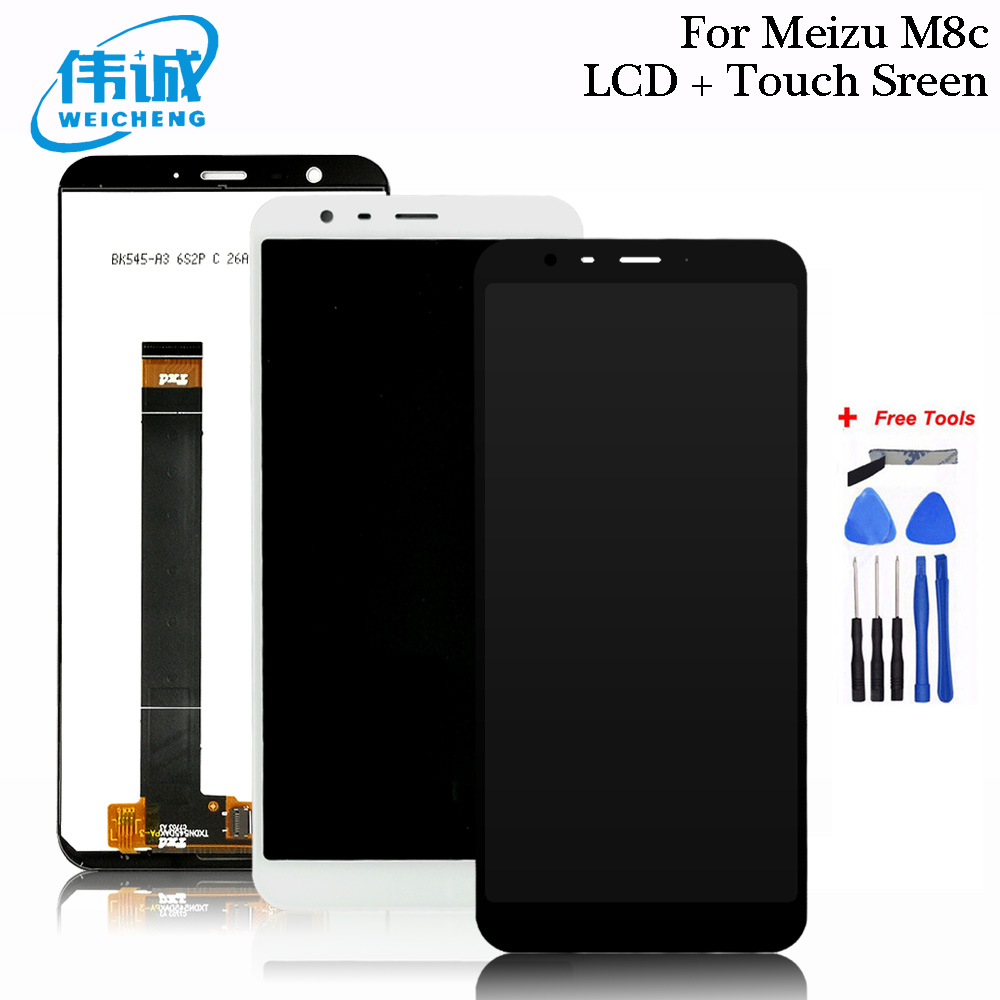 """2018 NEW 5.45"""" For Meizu M8c M810H M810L LCD Display + Touch Screen Digitizer Assembly For Meizu M8C LCD Phone Spair Part