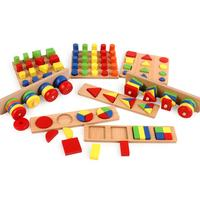 8PCS For Montessori Children's Teaching Aids Combination Early Education Enlightenment Parent Child Interactive Toys Brain Game