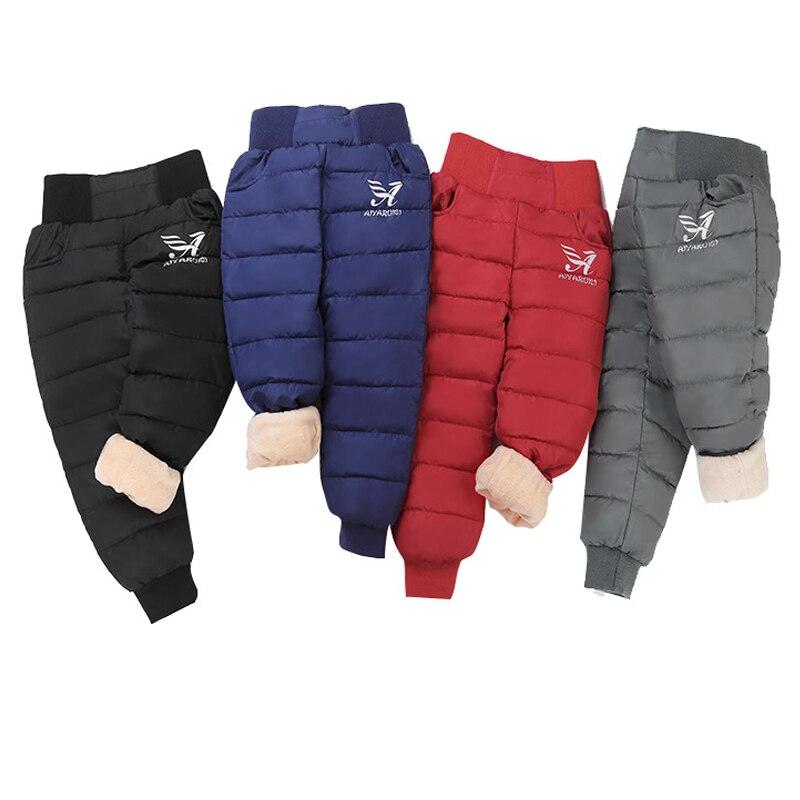 Girls Boys Warm Down Pants 2020 Winter Children High Quality Down Pants Teens Boy Girl Down Trousers Kids Ski Down Padded Pants 1