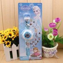 Дисней Замороженные 2 Кукла История игрушек электронные часы 3D проекционный стол 20 рисунок светящийся детский подарок на день рождения