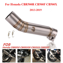 Middle-Connect-Pipe Exhaust-Escape Honda Cbr500r Slip-On Motorcycle