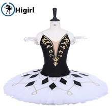 Paquita Classical Ballet Stage Costume Professional Tutu BT9228 Black White Women Adult Ballerina Pancake Skirt