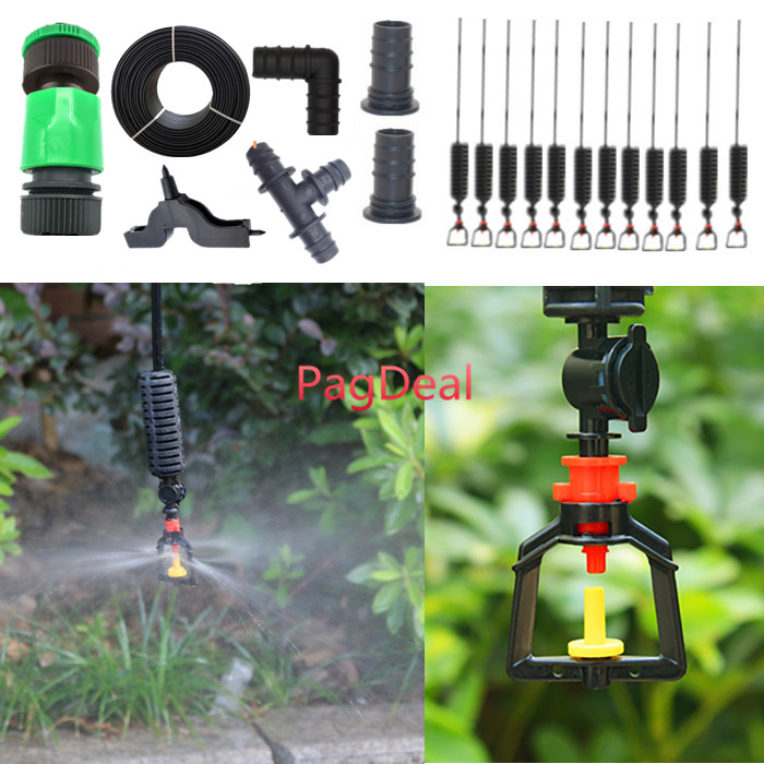 Garden Irrigation Sprinkler System 16PE Agricultural Hanging Mist Sprayer Greenhouse Outdoor Lawns Poultry Cooling Watering Kit Watering Kits     - title=