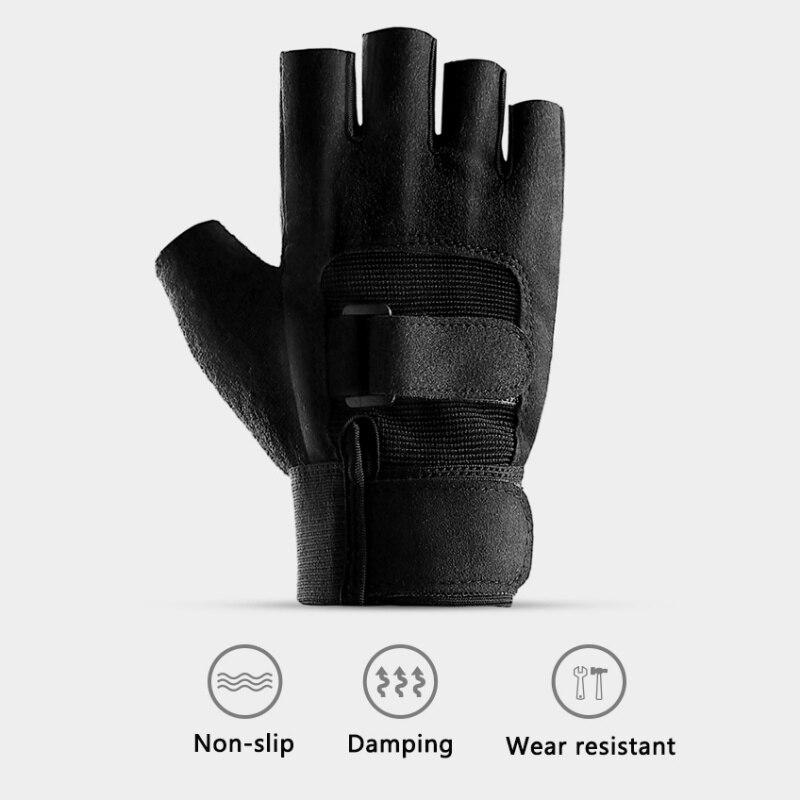 Фитнес с половиной пальца перчатки Нескользящие велосипедные упражнения тяжелая атлетика перчатки Фитнес-Тренировки Перчатки для фитнеса
