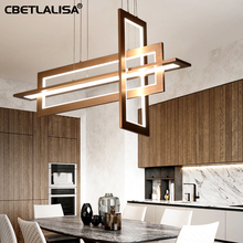 CBETLALISA.LED Chandelier, study chandelier restaurant, coffee color, kitchen in a post-modern simple dining room lamp