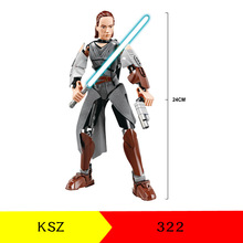 KSZ Star Space Wars Rey Royal Guard Han Solo Darth Vader Maul Grievous Figure building blocks Toys kaygoo star wars han solo tauntaun skywalker darth vader jabba slave princess leia building blocks set for kids toys gifts