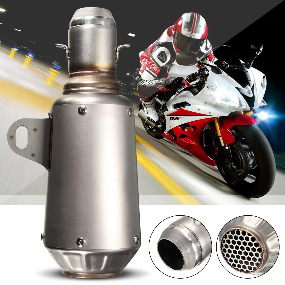 51mm 265mm Stainless Steel <font><b>Motorcycle</b></font> <font><b>Exhaust</b></font> Muffler Pipe for <font><b>SC</b></font> GP Racing Moto Motorbike ATV for Honda/Kawasaki/Suzuki image