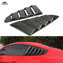 цена на Carbon fiber rear window shutter For Ford Mustang 2.3T 5.0T 2013 - 2016 Mustang GT racing style decorative side window spoiler