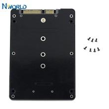 Venda quente 2.5 polegada ngff (sata) ssd conversor adaptador caso b + m chave soquete 2 m. 2 sata adaptador cartão para e431 e531 x240s y410p y510p