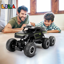 LBLA C12 Big Size 39CM 1:12 RC Car 6WD 2.4Ghz Remote Control Crawler with Light Off Road Vehicles High Speed Truck Kids Toys