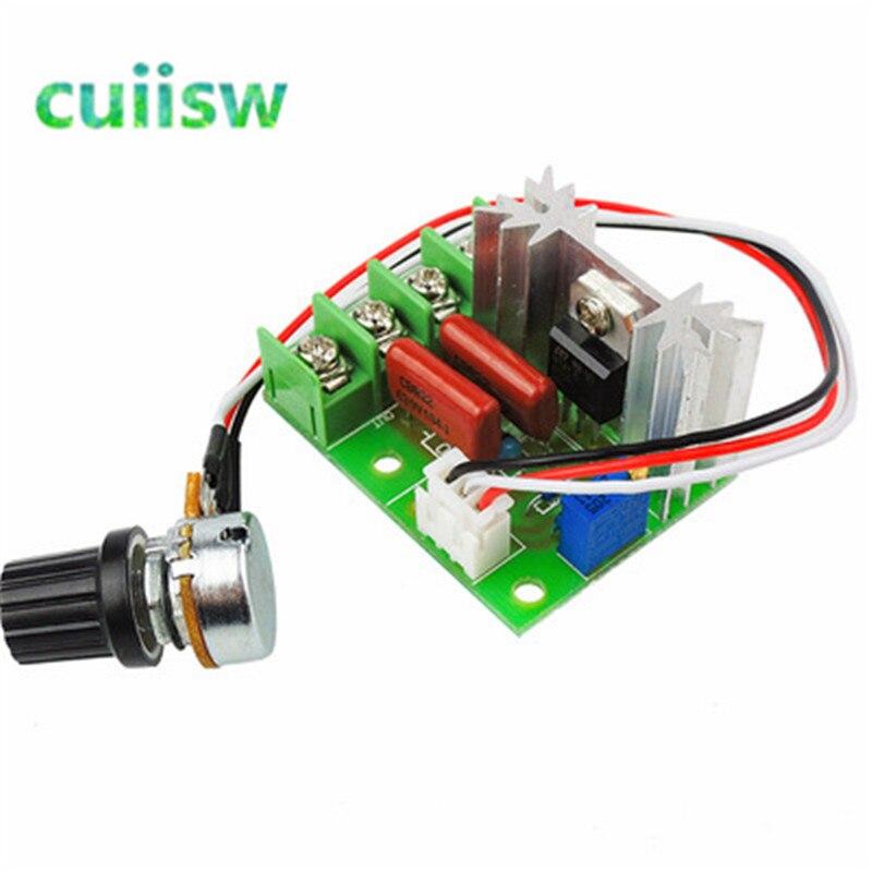 Controlador de motor de CA 220V 2000W regulador de voltaje oscurecimiento atenuadores controlador de velocidad del Motor regulador de voltaje electrónico del termostato