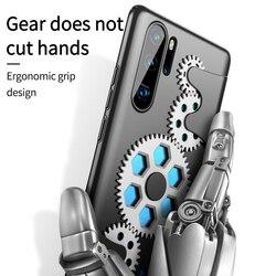 GKK luksusowe dla Huawei P30 Pro Case mechanik obrotowy dekompresji pokrywa przekładni Anti-fall twardy PC ultra-cienki dla Huawei P30 Coque