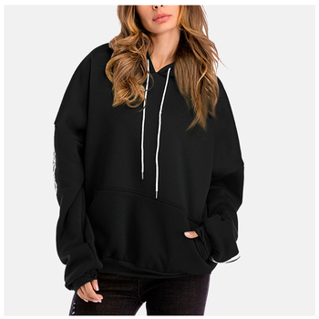 цена на Plain Thick Hoodie Solid Color Warm Sweatshirt Poleron Mujer 2019 Cute Oversized Kangaroo Pocket Hoodie Side Stripe Hoodie Women