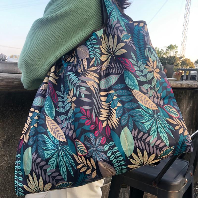 54.36руб. 30% СКИДКА|Нейлоновая складная сумка для покупок Экологичная Дамская многоразовая сумка для покупок с короткими ручками Цветочный Фруктовый Овощной продуктовый карман|Хозяйственные сумки| |  - AliExpress