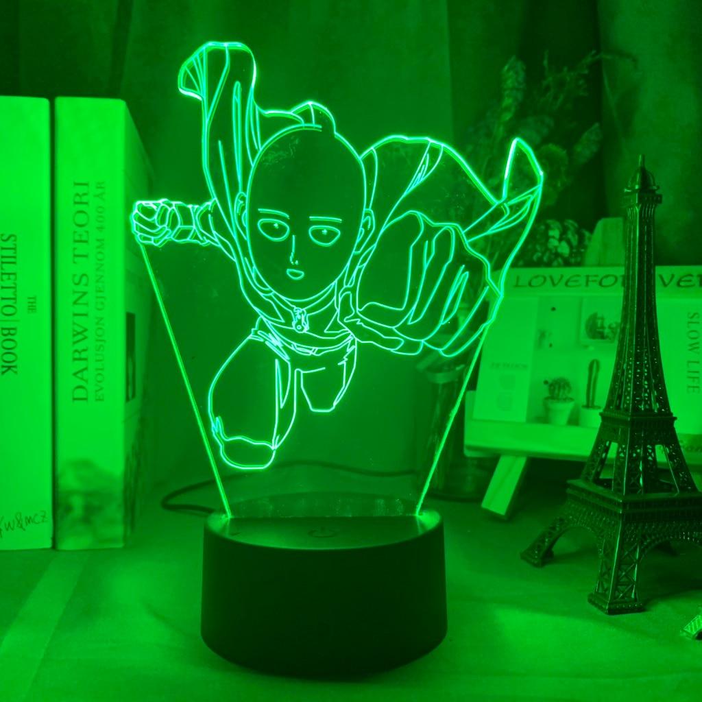 Hf0bd94bb1bde4d11a72d411b9699665dO Luminária One Punch Man saitama figura led night light lâmpada para decoração de casa nightlight fresco mangá loja decoração idéias mesa luz 3d