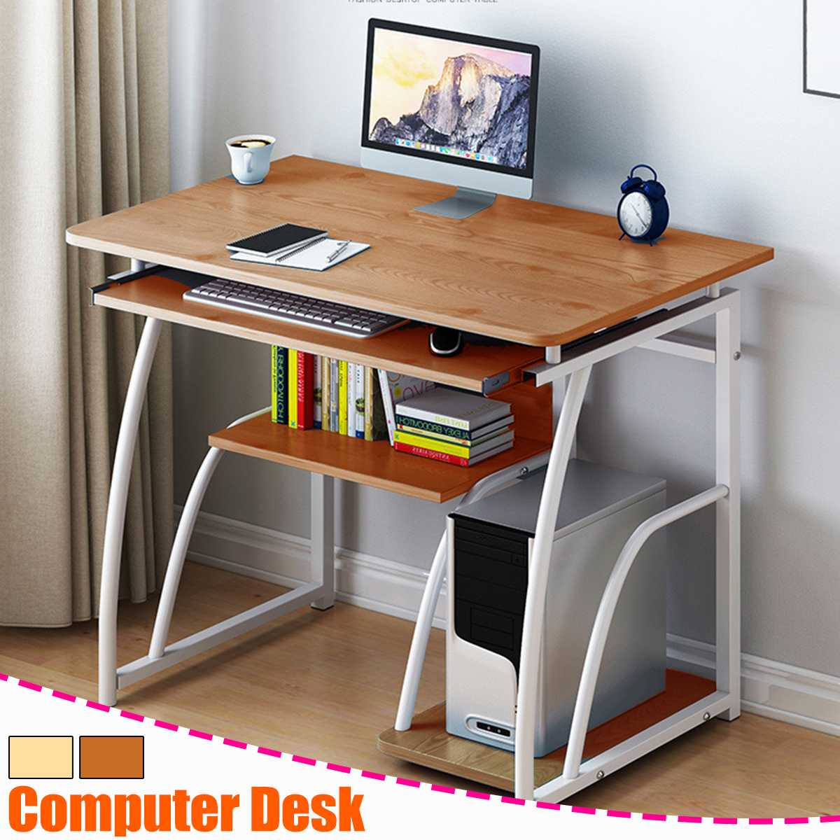 Modern Computer Desk with Keyboard bracket PC Workstation Study Writing Table Home Office Furniture 71cm 1