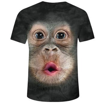 Men's T-shirts Men Spring Summer 3d Print O-neck Short Sleeve T Shirt Tops Blouse Loose Printed Short Sleeve Casual T-shirt 2