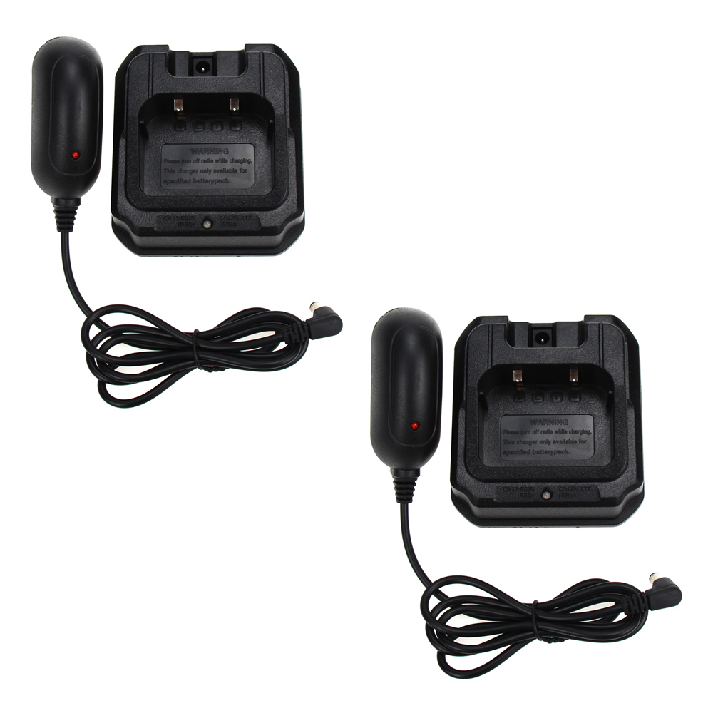 2X Baofeng Battery Charger Base With Adapter 100-240V For Baofeng Waterproof BF-A58 BF-9700 GT-3WP UV-82WP R760 UV-9R Plus