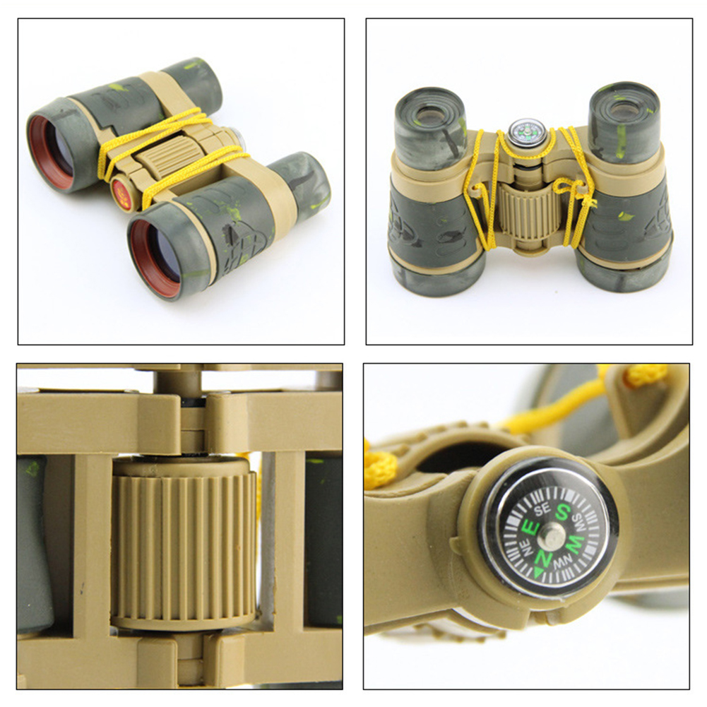 ABS Portable  Plastic Children Colorful Binoculars Telescope For Kids Outdoor Games Toys Compact For Kids Gift