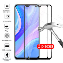 for huawei y8p y7p y6p y5p y6s y9s y9a 2020 glass 2pcs protective glass y 8p 7p 6p 5p 6s 9s 9a screen protector armor Film cover(China)