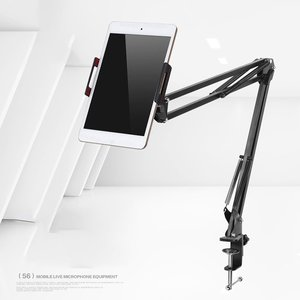 Держатель для планшета от 6 до 11 дюймов, подставка для ipad, 2, 3, 4, Air Mini, поддержка, длинные руки, мобильный телефон, планшет, кровать/настольный а...