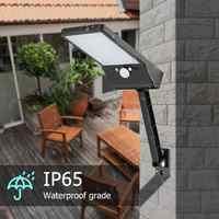 48 LED uzaktan kumanda güneş ışığı PIR hareket sensörü güneş sokak ışık IP65 açık su geçirmez bahçe güneş enerjili lamba