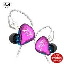 Kz zst x fone de ouvido armadura dupla driver destacável em monitores áudio isolamento ruído alta fidelidade música esportes fones