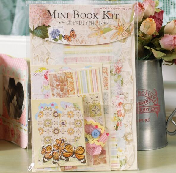 Mini Photo Album Diy Photo Frame Portable Card Butterfly Design Scrapbook