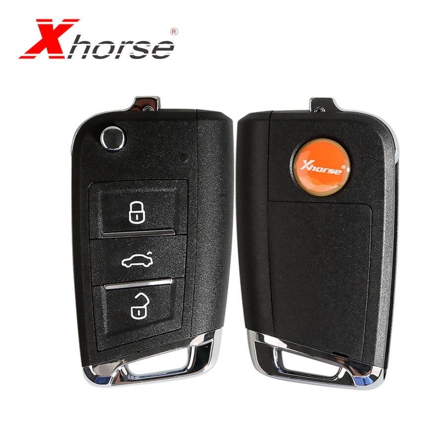Xhorse Schlüssel Für VW MQB Stil Schlüssel 3 Tasten XKMQB1EN 10 teile/los