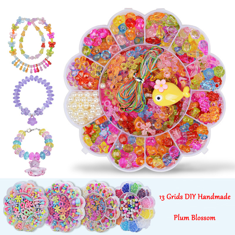 13 Grids Jewelry Making Toys Handmade Beaded Educational Accessory Set For Children Girl Kids Gfits Set