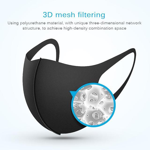 5-100PCS Anti Haze Flu Dust Mask Breathable Unisex Face Mask Reusable Anti Pollution Bacteria Face Shield Wind Proof Mouth Mask 1