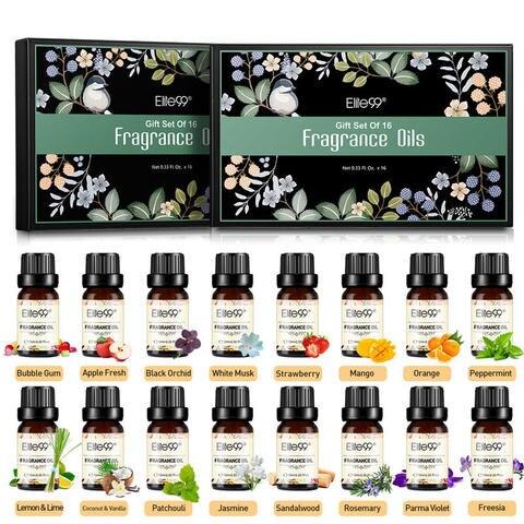 elite99 10 ml 16 pcs presente conjunto puro oleo essencial difusor umidificador massagem aroma branco