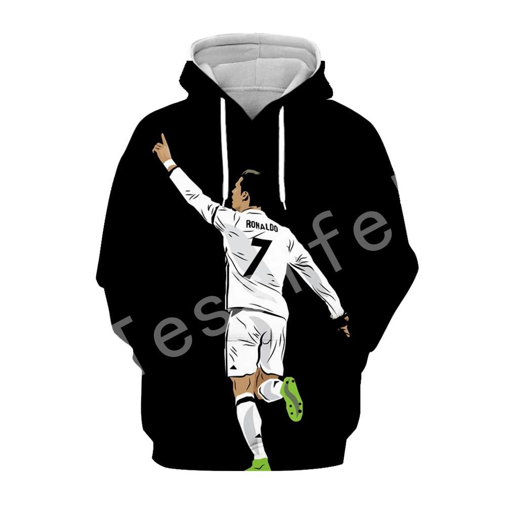 Tessffel Cristiano Ronaldo Athletes Tracksuit 3DfullPrinted Hoodie/Sweatshirt/Jacket/shirts Mens Womens hiphop fit casual style1