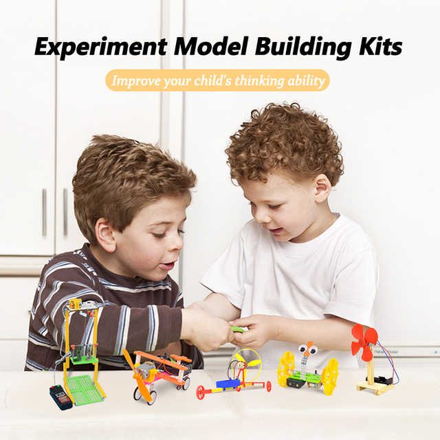 Remote Control Phantom Racing Model Kit Car Toy for Boys DIY Manual Assembly Wooden Model Electric Robotics Educational Kits Car 6