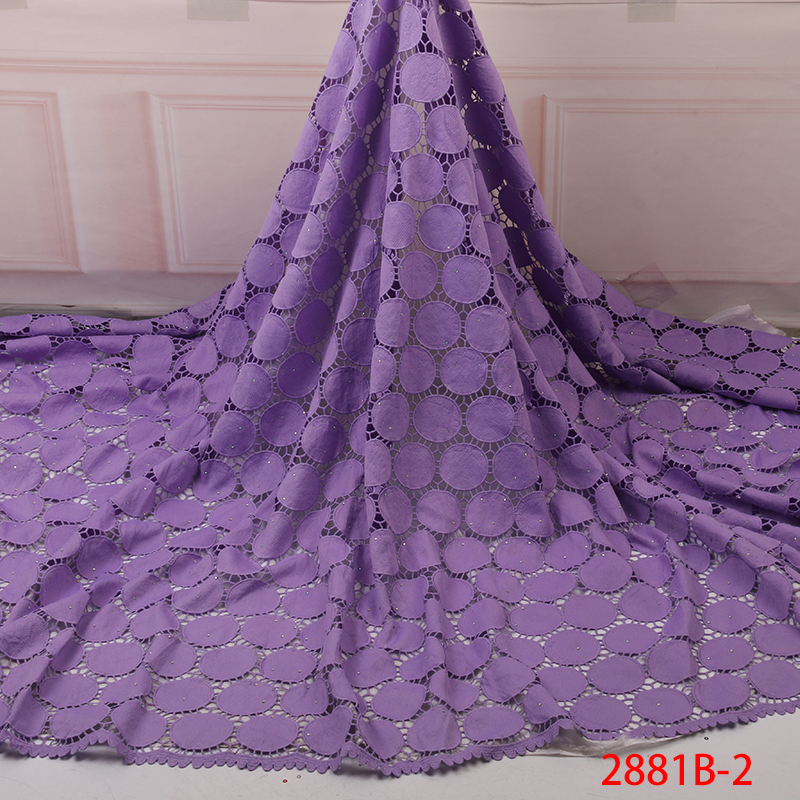 2019 African Lace Embroidered High Quality Switzerland Lace Ftench Lace Agrican Net Fabric French Bridal Lace For Dress YA2881B