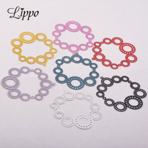 30pcs AB5342 40*45mm Big Flower Charms Round Pendant Diy Jewelry Parts Pakistan
