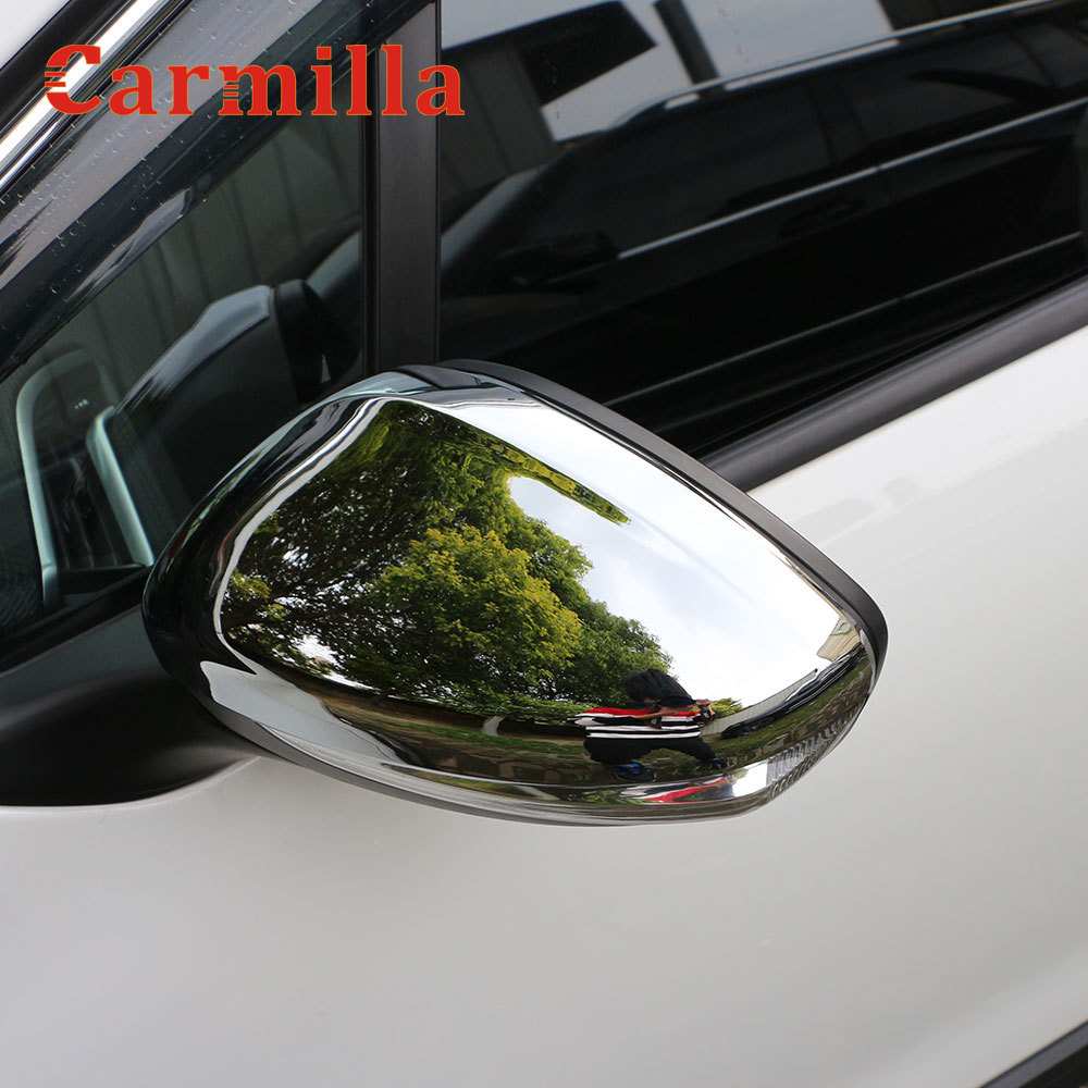 Carmilla 2Pcs Side Car Rearview Mirror Protector Cover Trim Fit For Peugeot 301 2014 2015 2016 2017 2018 2019 Accessories