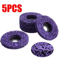 5Pcs 115mm Grinding Cleaning Disc Abrasive Tools 4.5inch Cleaning Disc Paint Rust Removal Clean For Metal Stone Plastic Wood