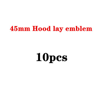 10pcs 45mm Car Styling Modified Round Middle Hood Lay Emblem Bonnet B Apple Tree Star Logo for Mercedes Benz AMG Lorinser Brabus