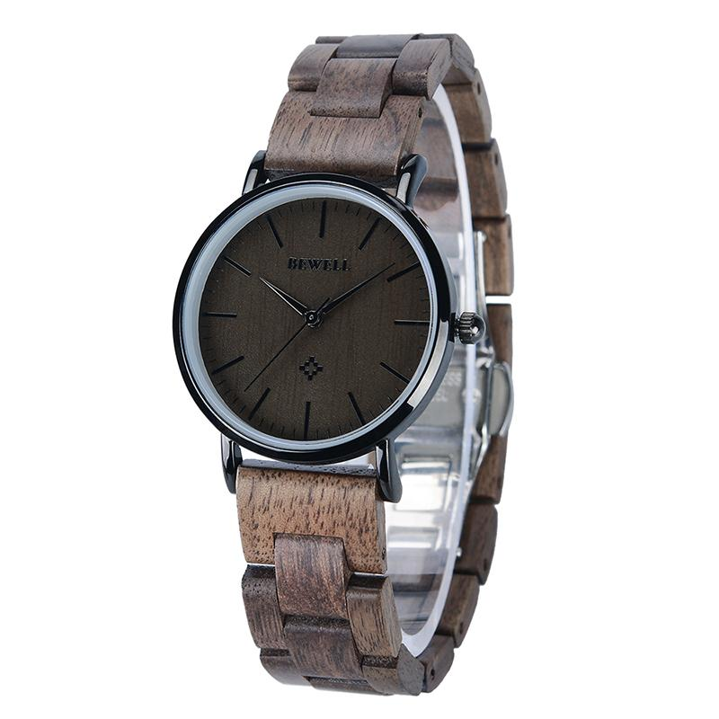 Bewell  fashion quartz analog wooden watches with maple wood birthday gift for man 163A|Quartz Watches| |  - title=