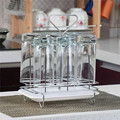 Металлический Стеклянный Стеллаж для стаканов  кружка для воды  сушилка  органайзер  держатель для слива  лоток  подставка  полка для кухни  ...