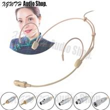Hipercardióide Condensador Microfone Headset Microfone Para Sennheiser EW 100 300 500G 1 2 3 4 Cantar Discurso Entrevista Sem Fio gravação
