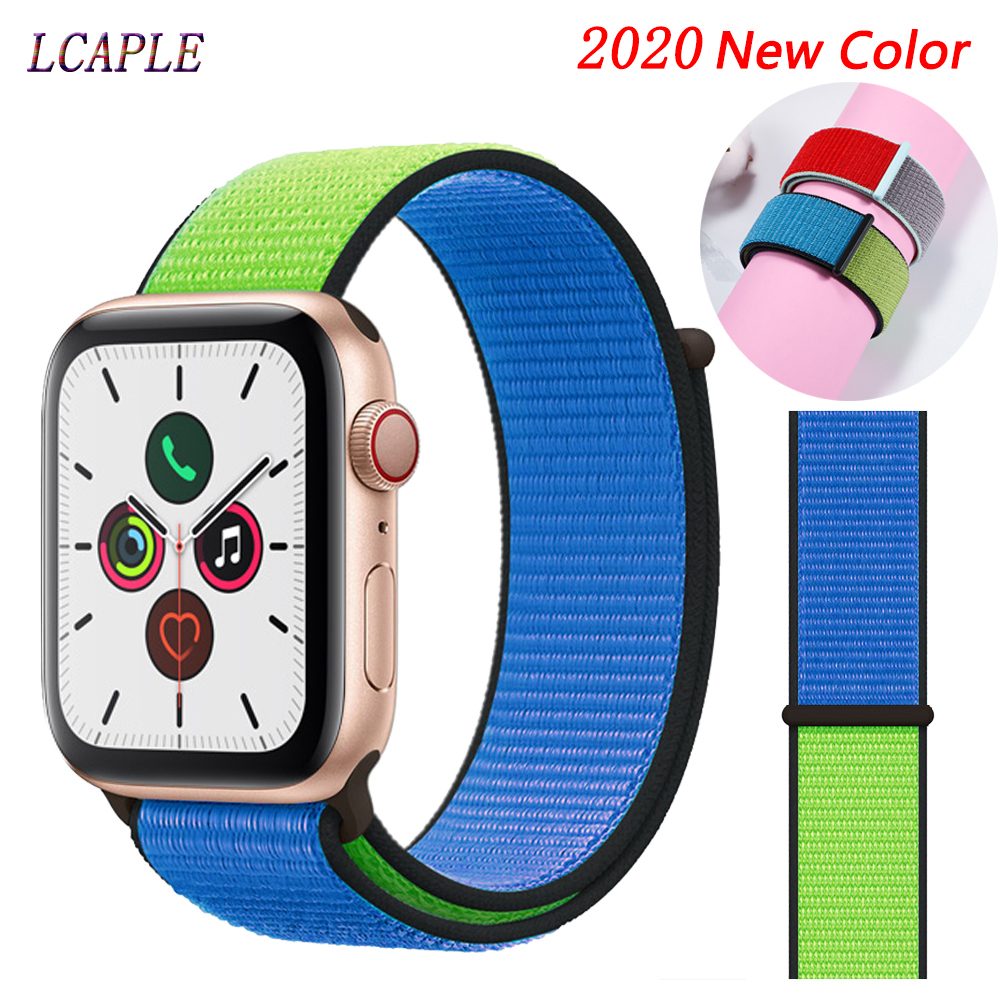 Strap For Apple Watch 42mm Band Apple Watch Series 5 4 3 2 44 Mm 40mm Nylon Comfortable Correa Pulseira Iwatch Band 42mm 38mm 44