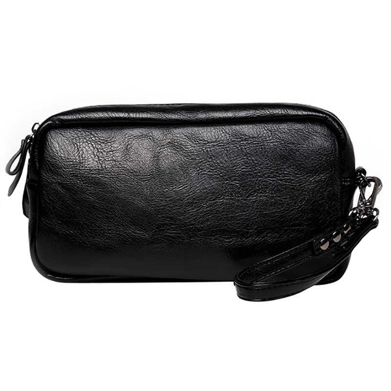 Новый список повседневная мужская кожаная сумка клатч кошельки кошелек унисекс женская сумочка телефон сумка