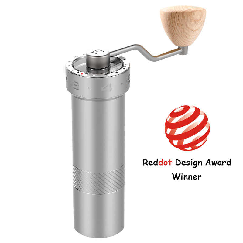 Super haute qualité manuel moulin à café réglable Mini acier inoxydable grain de café fraise moulin outil de cuisine à la main illustration