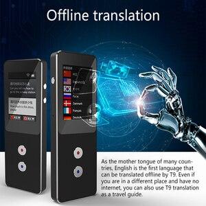 Image 2 - T9 + çevrimdışı taşınabilir akıllı ses çevirici çok dilli anında çevirmen iş seyahat arası çeviri makinesi