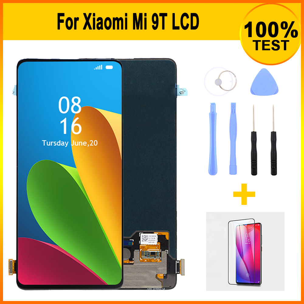 New Arrival  Super AMOLED Screen Digitizer For Xiaomi Mi 9T Display Assembly Replacement Touch Screen Glass Pane