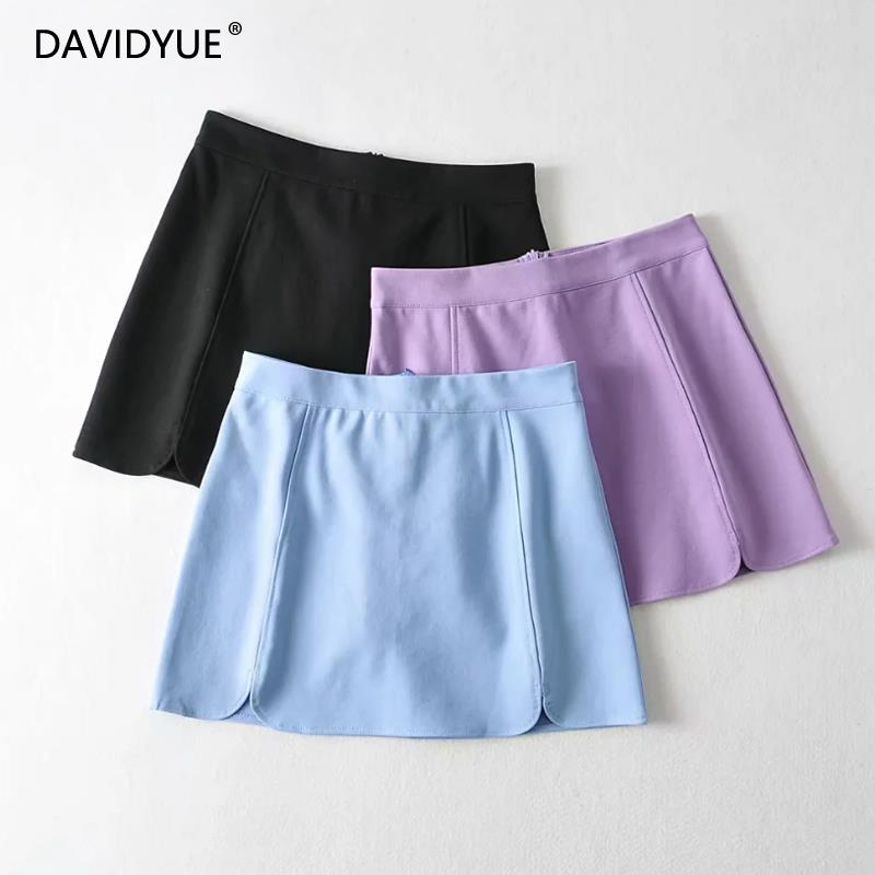 Summer skirt women kawaii mini skirt vintage pencil black skirts high waist skirt korean style sexy satin skirts 2020 image