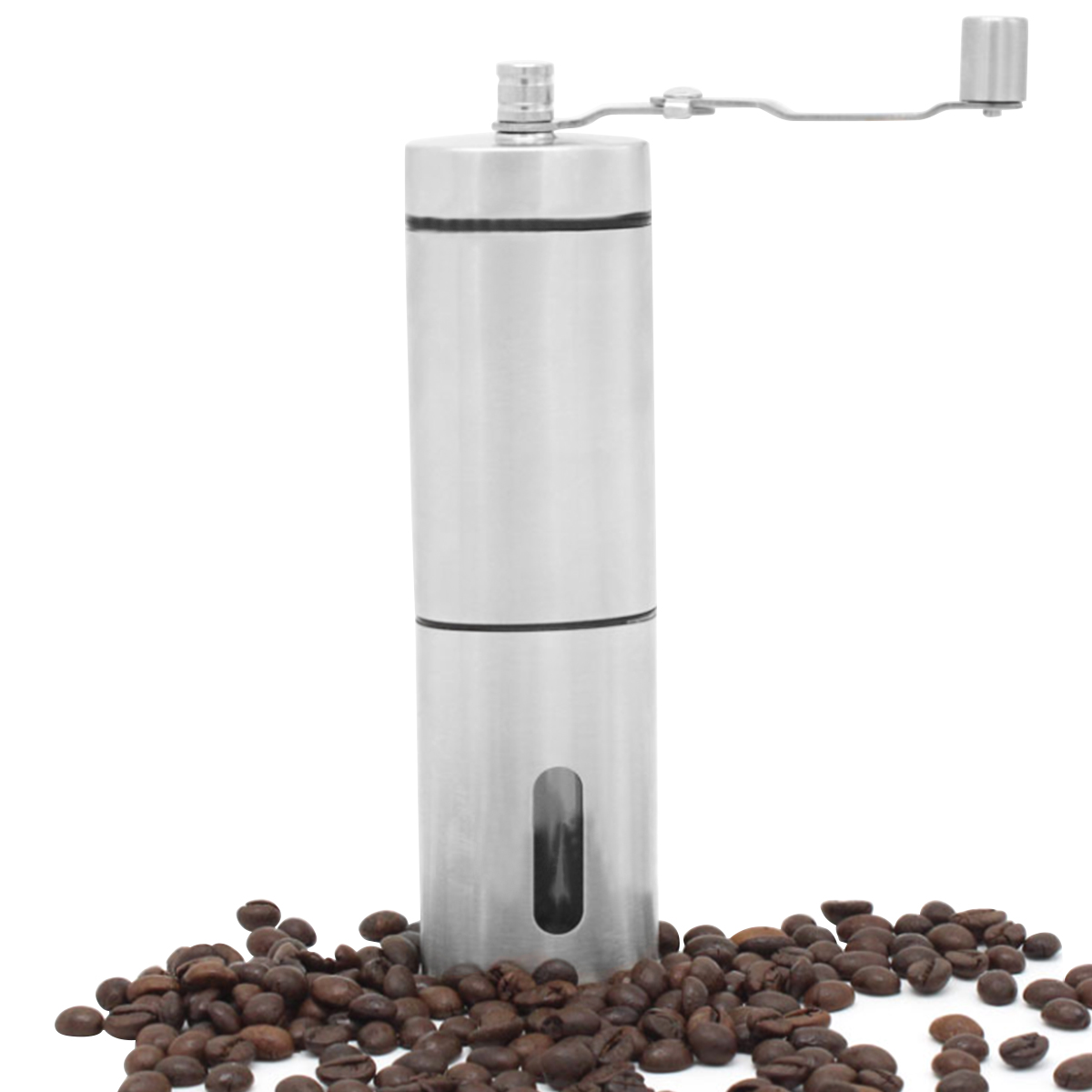 Manual Coffee Grinder Coffee Maker Ceramics Core 304 Stainless Steel Hand Burr Mill Grinder Ceramic Corn Coffee Grinding Machine|Manual Coffee Grinders| |  - title=