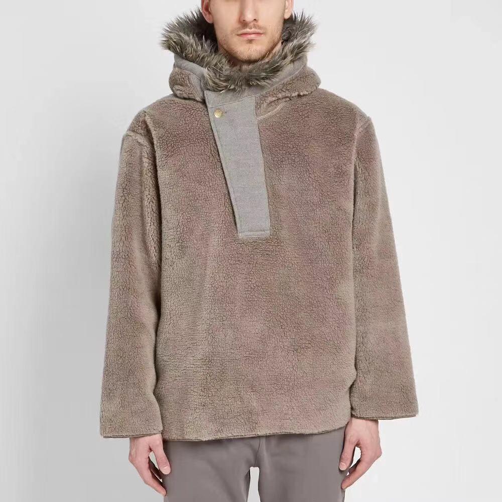 20ss início de alta qualidade mais recente hip hop justin bieber temporada 6 das mulheres dos homens nevoeiro villus jaqueta casaco moda streetwear